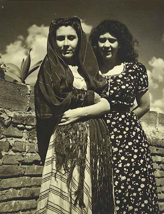 Judith & Celia, c. 1953 • Samuel Gutierrez, Foto Estudio Paris • Ltd Edit. Silver Rag Print