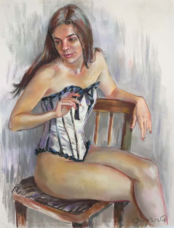 The girl on the chair. - Image 0