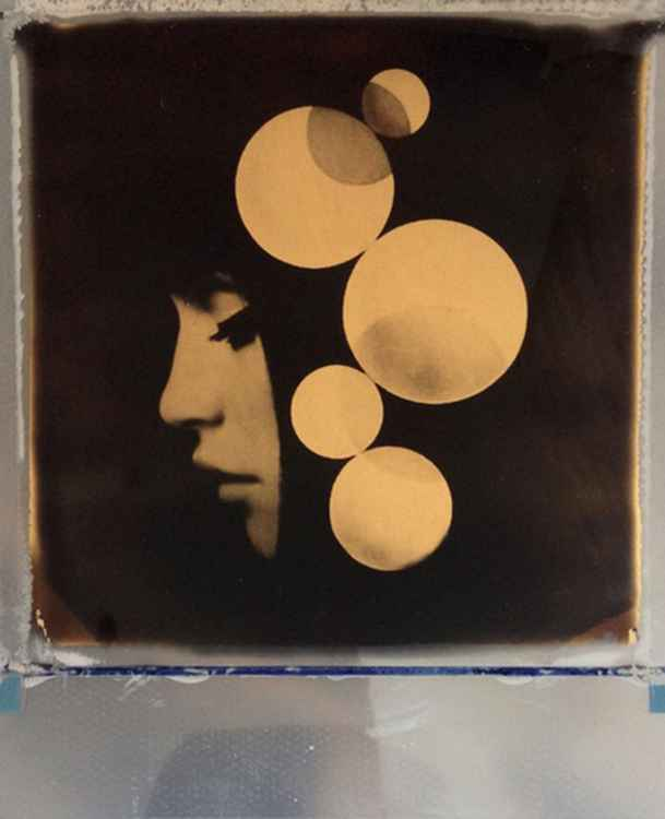 Reality from dream -24ct Gold Leaf Polaroid Collage -