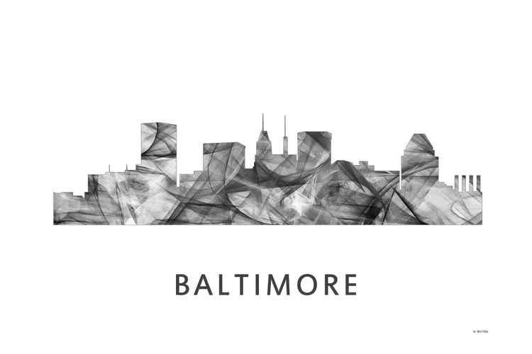 Baltimore Skyline WB BW -
