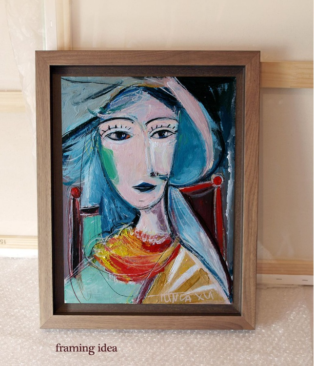 girl with red scarf (Inspired by Picasso) - Image 0