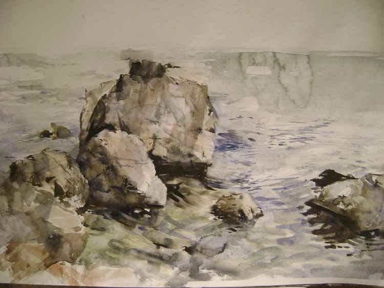 Seascape with rocks 3