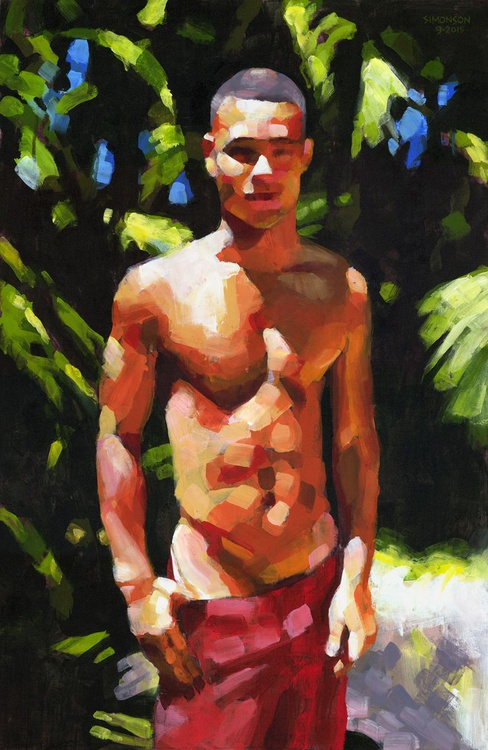 Torano in Red Trunks - Image 0