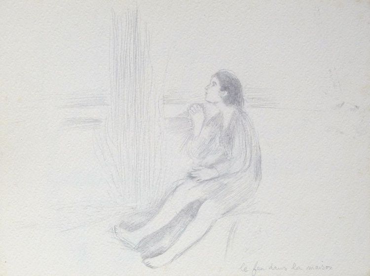 Fairy Tale Illustration, pencil drawing, study #3 24x32 cm - Image 0