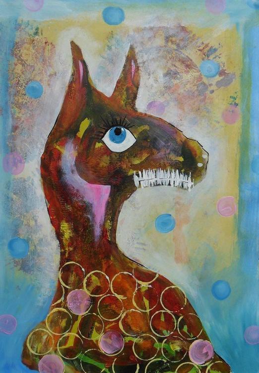 Big Blue Eyed Creature - Image 0