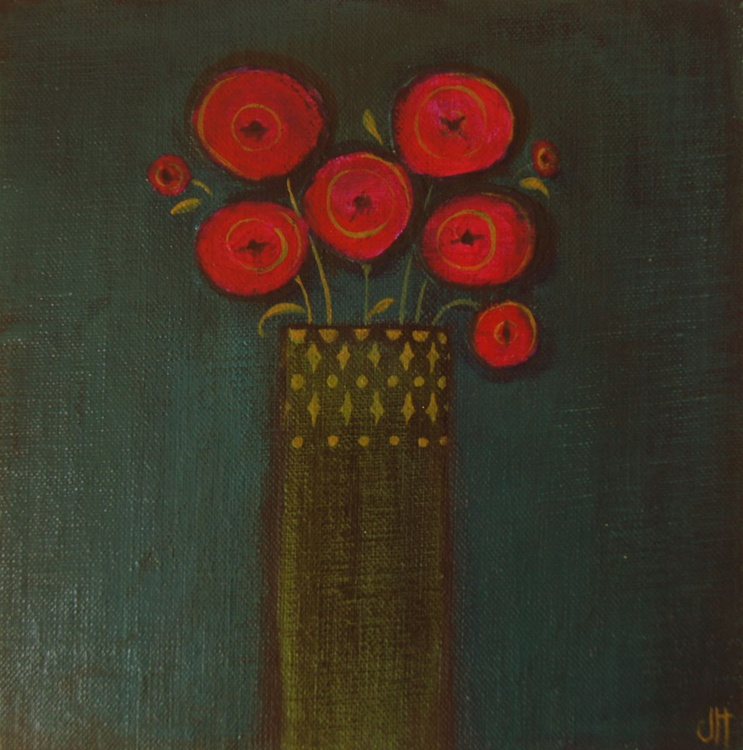 Poppies in a Small Vase.. - Image 0