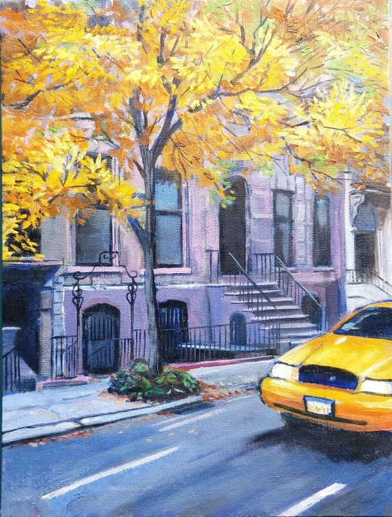 New York taxi yellow tree - Image 0