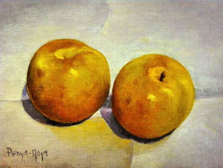 Two yellow plums -