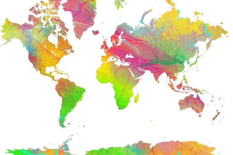 World Map 9 -