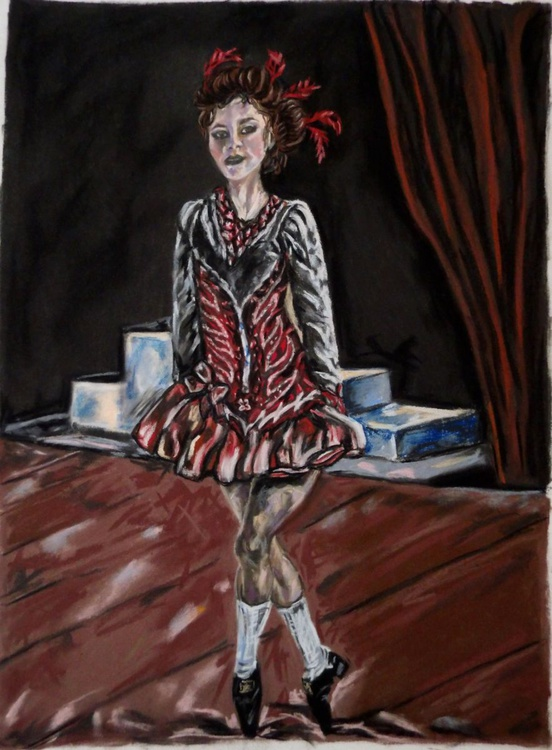 Irish dancer in red - Image 0