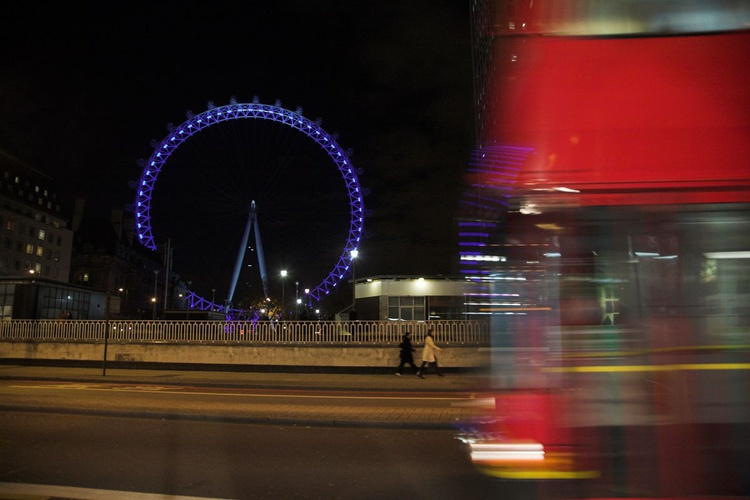 London Eye at night, London - Image 0