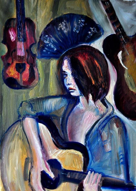 Girl playing Guitar - Image 0