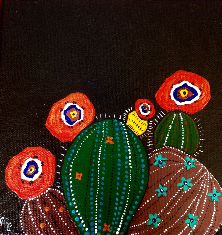 CactusBlooms at Night(1) - Image 0