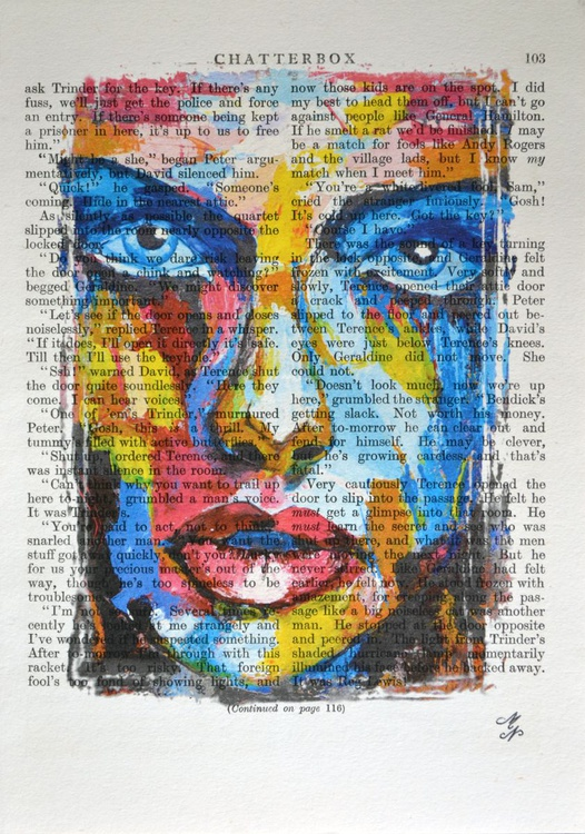 Rainbow Girl on the Vintage Paper - Image 0