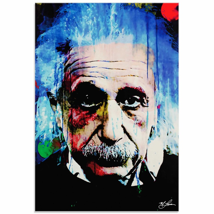 Mark Lewis 'Albert Einstein Questioning Tomorrow' Limited Edition Pop Art Print on Acrylic - Image 0