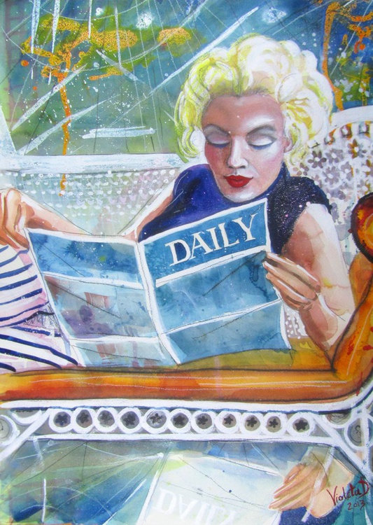 Marilyn Monroe reading - Image 0