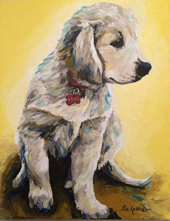 Golden Retriever Dog art -