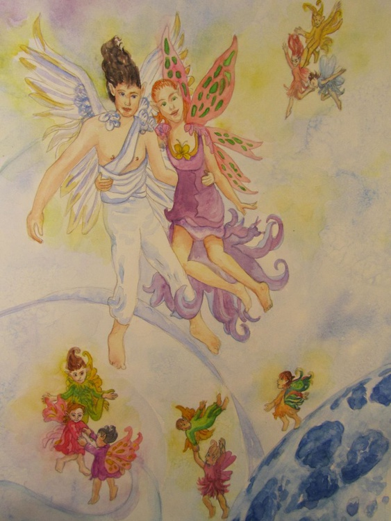 Angel and Fairy in the Upper Hemisphere - Image 0