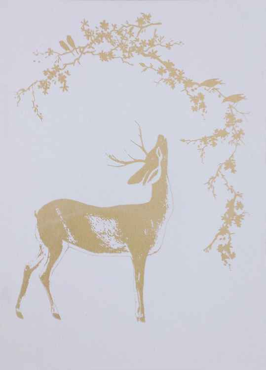 Deer in the Golden Woods -