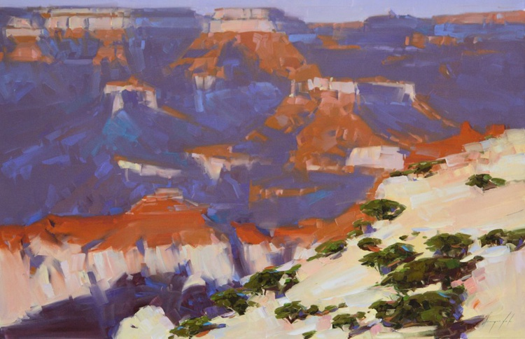 Grand Canyon North Rim Original large painting on canvas - Image 0