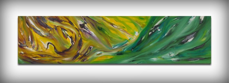 Perception - 120x30 cm, Original abstract painting, oil on canvas - Image 0