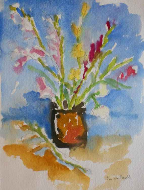 Gladiolas in Vase