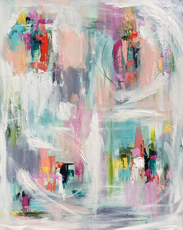 """Abstract in Acrylic 'Power Within' 30""""x24"""" - Image 0"""