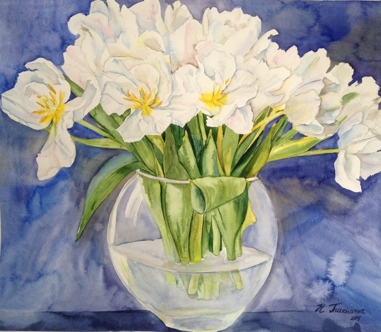 Tulips in a vase - Image 0