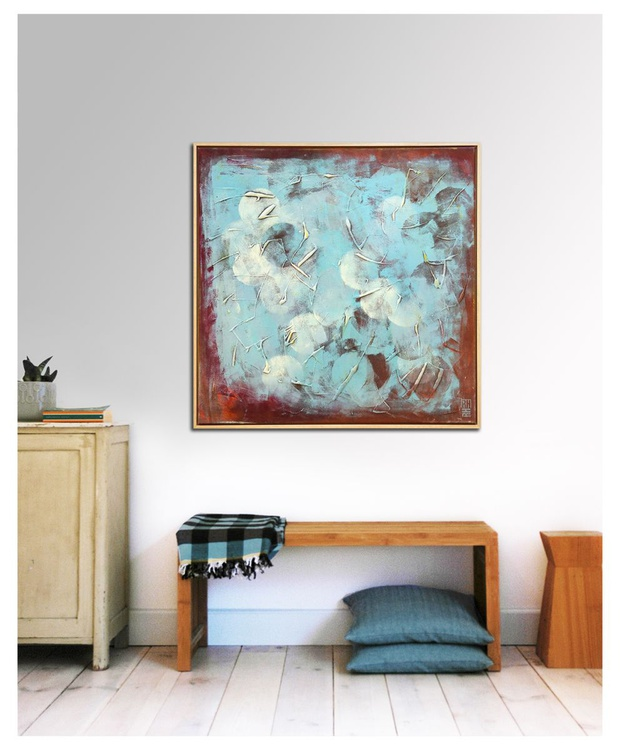 Framed Squared - Circle blue - 203 - Image 0
