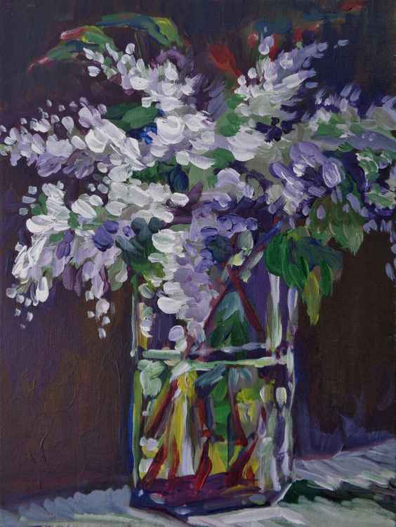 Lilacs in Crystal -