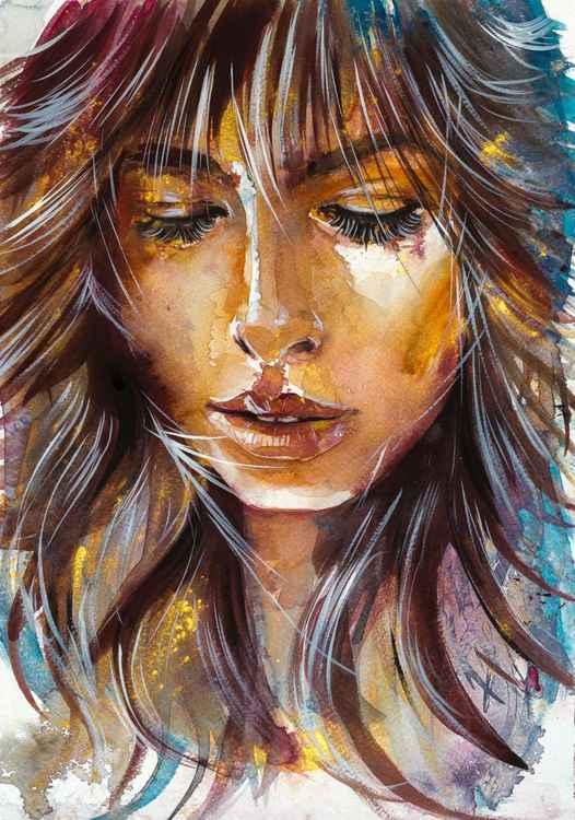 Girl in gold -