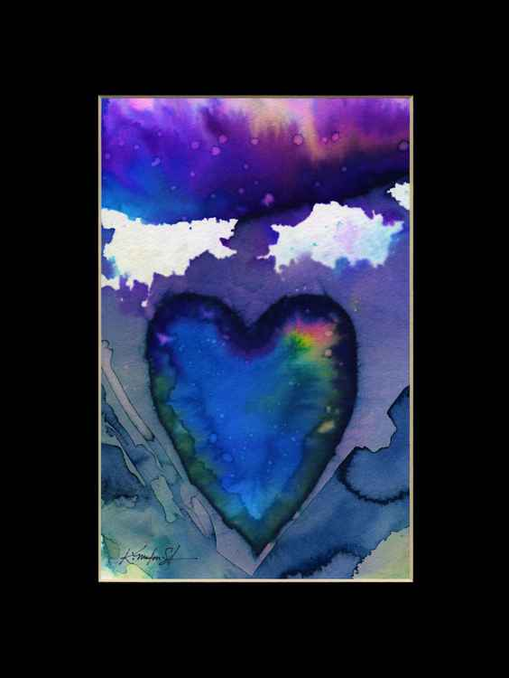 Heart Watercolor Painting, Abstract - Eternal heart No. 17 -