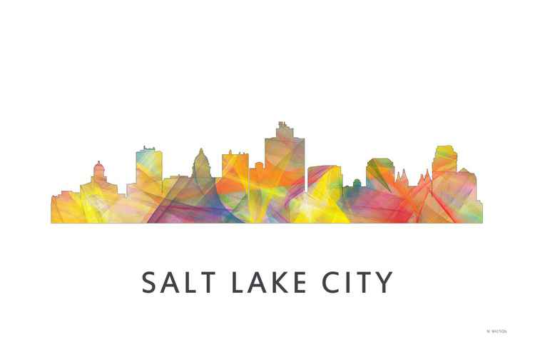 Salt Lake City Utah Skyline WB1 -