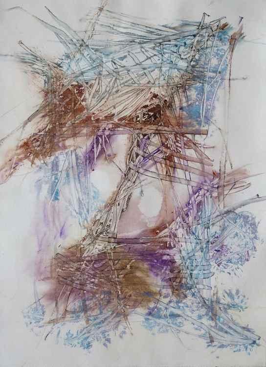 Velocity #9 , Acrylic on paper 29x41 cm -