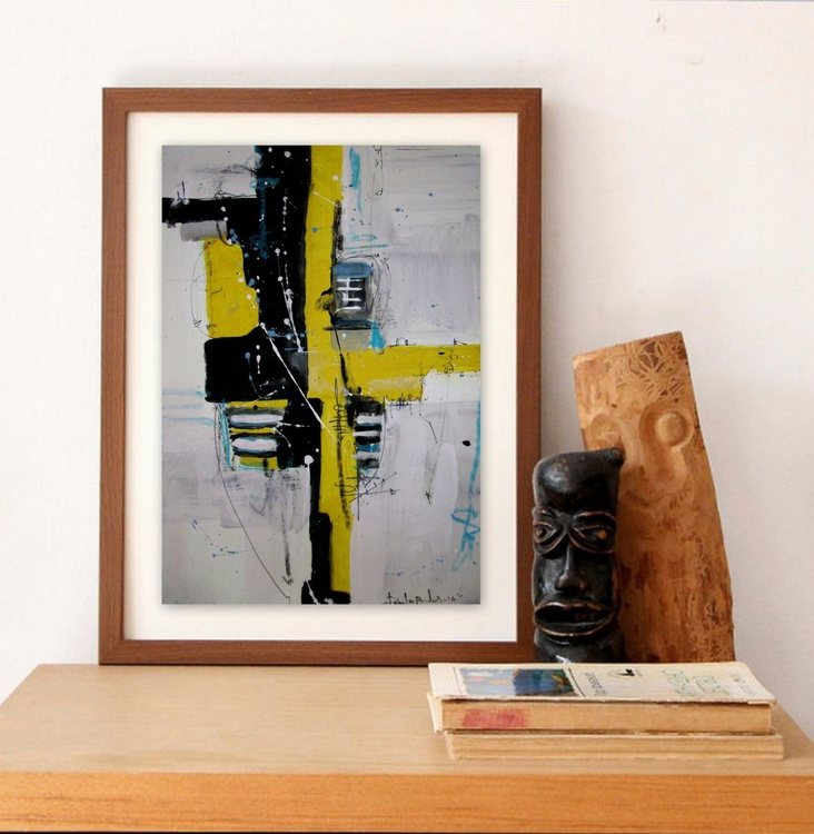 yellow VI, Abstract paper collection - Image 0