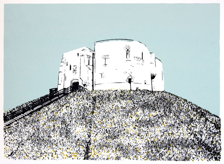 Clifford's Tower with Daffodils - Image 0
