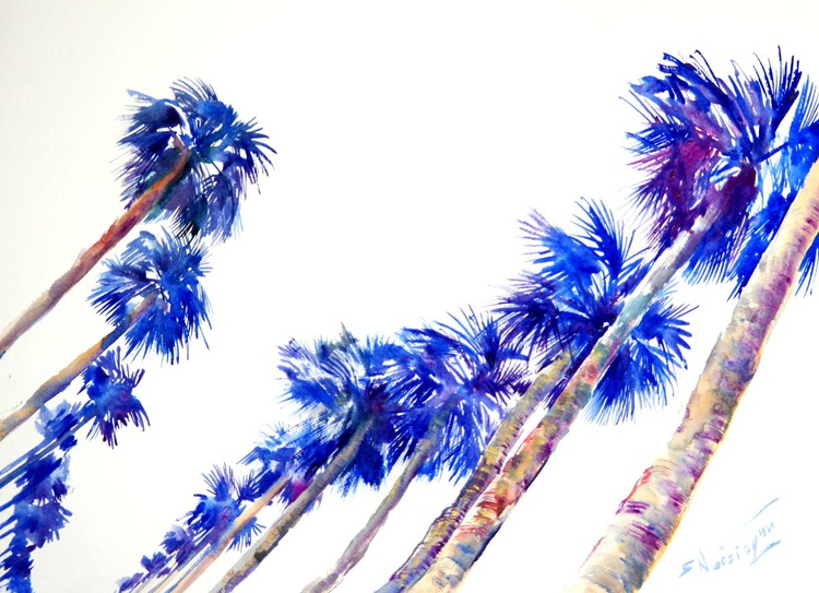 Blue Palms on the Road (Hollywood) - Image 0