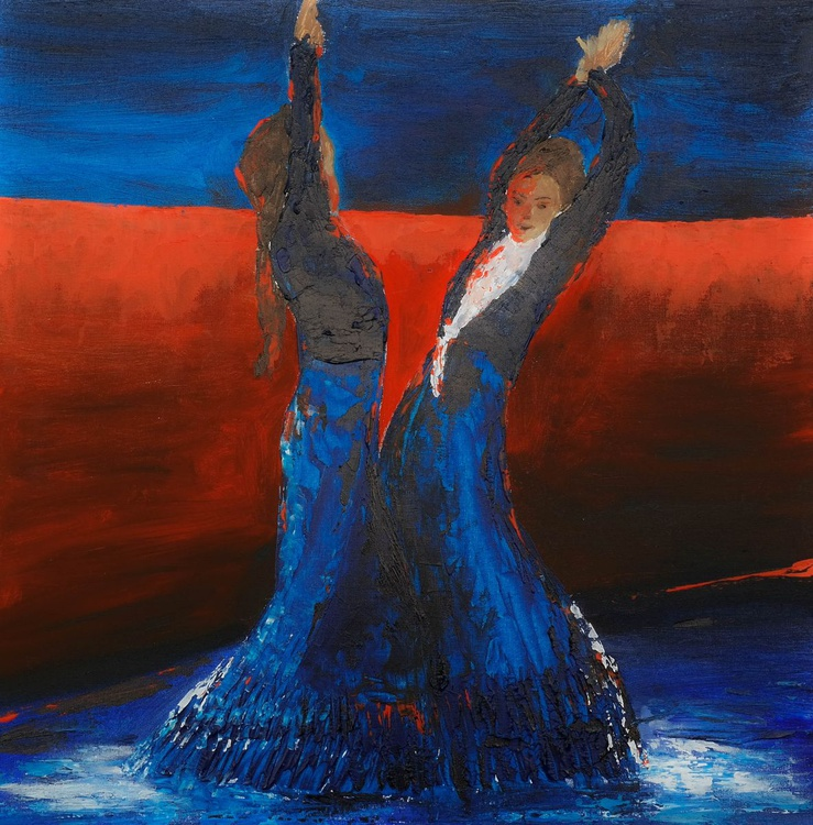 Flamenco I - Study for a larger painting - Image 0