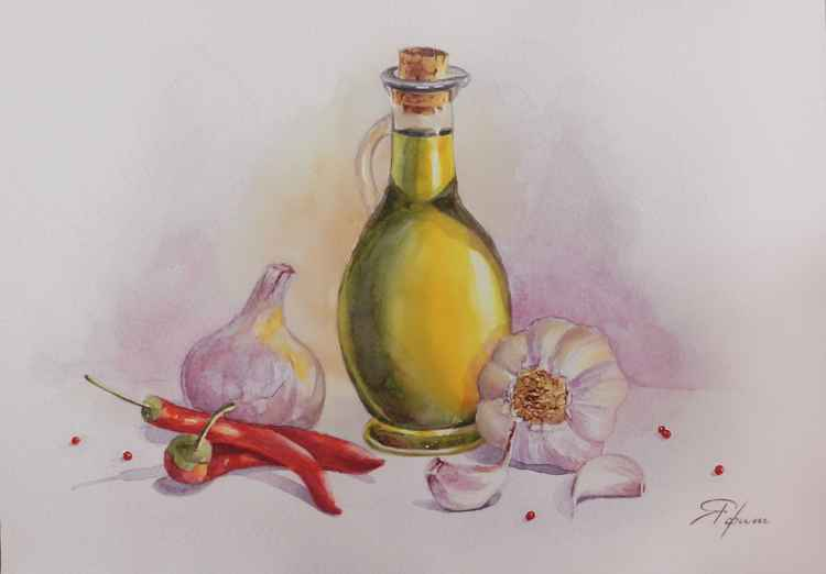 Olive oil and garlic -