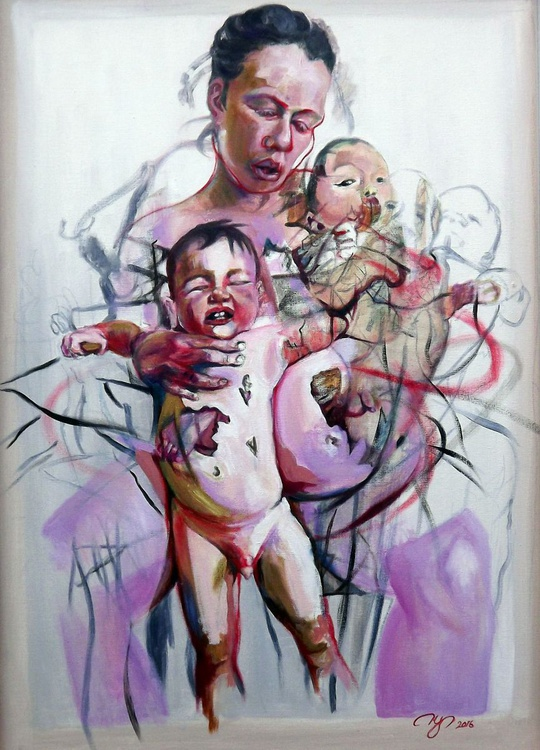 Mother and Children (after Jenny Saville) - Image 0