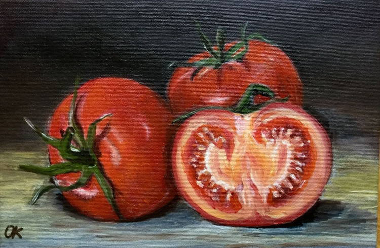 Ode to the tomato #perfect gift  #classical still life - Image 0