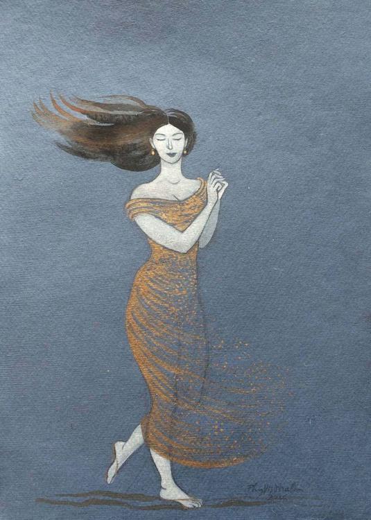 Dancing in a golden dress - Image 0