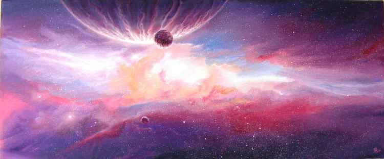 Purple nebula -