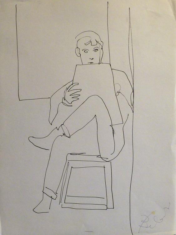 Self-portrais, Passage Charles-Albert, #6, 24x32 cm - Image 0