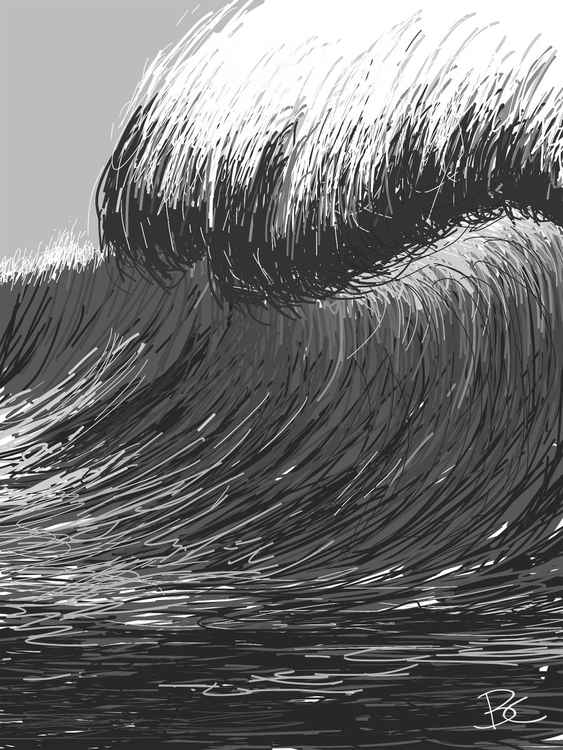 Wave 18 - Drawing - Small -