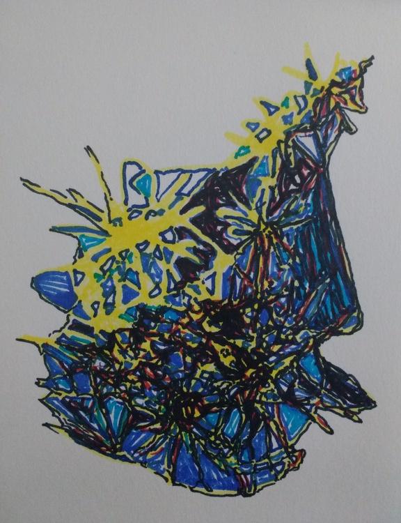 Cracker Anger Energy Drawing (13cm x 14cm) - Image 0