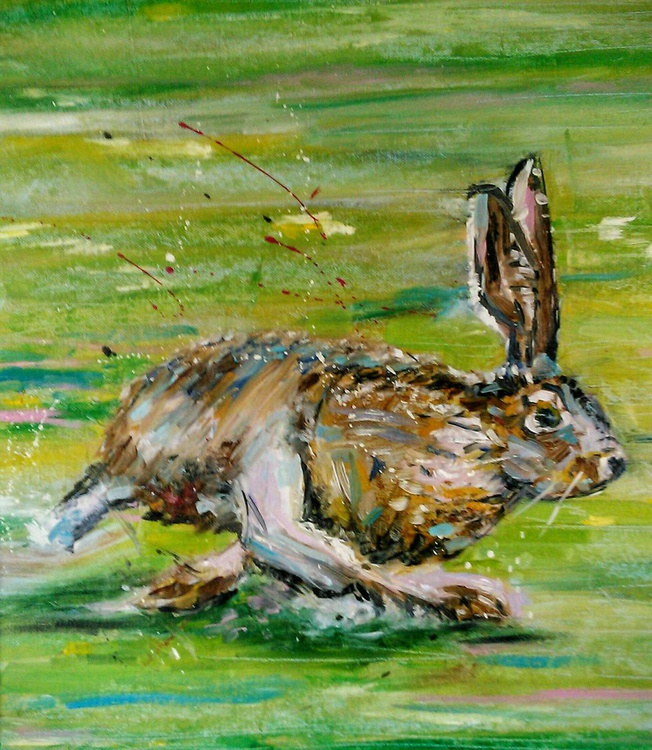 Bolting hare - Image 0
