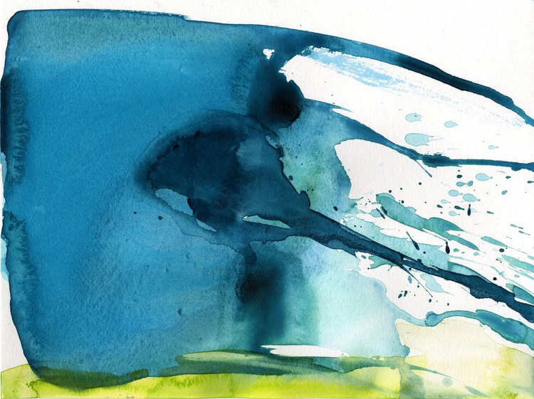 Serenity 6 - Abstract Watercolor Painting by Kathy Morton Stanion - Image 0