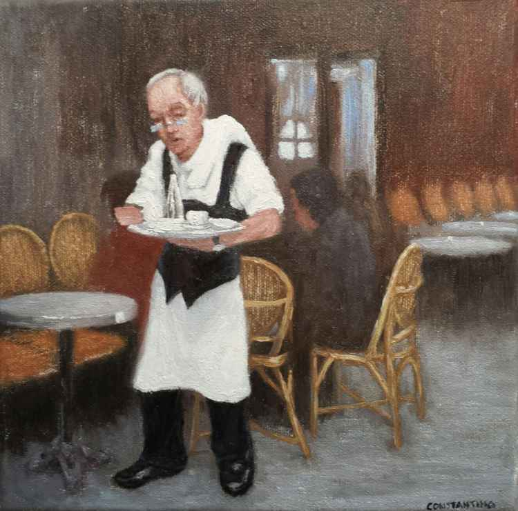 Moments back in time - Old parisian waiter