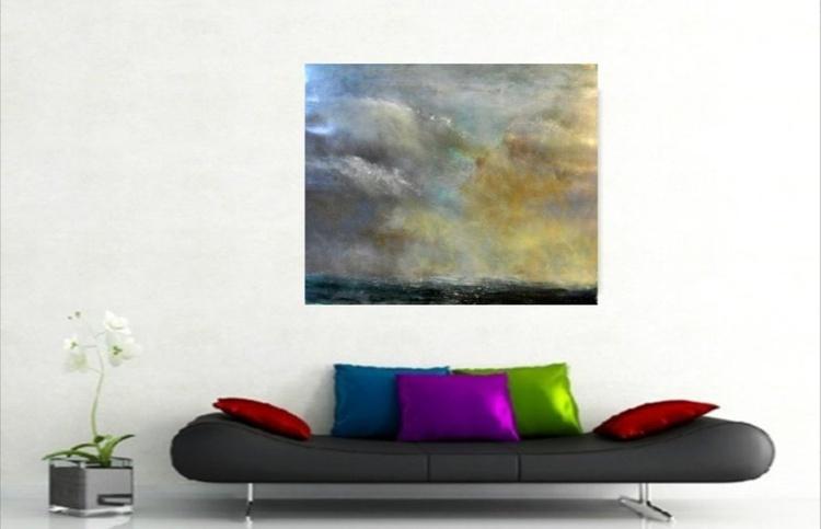 Sky scape 5 ~ Acrylic on card ~English Impressionist Painter - Image 0